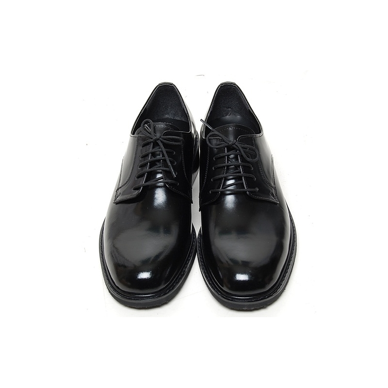 Mens Grossy Round Toe Lace Up Black Dress Shoes Us 5 12