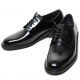 Mens grossy round toe lace up black Dress shoes US 5.5 - 12
