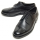 Mens grossy round toe straight tip lace up real cow leather black Dress shoes US 10.5 - 13