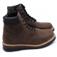 Mens synthetic Leather side zip closure brown ankle peding boots made in KOREA US5.5-10.5