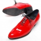 Mens glossy red plain toe lace up high heels oxfords korea comfortable dress shoes