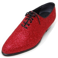 Mens glitter red plain toe lace up high heels oxfords korea comfortable dress shoes