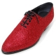 Mens glitter red plain toe lace up high heels oxfords korea party dress shoes