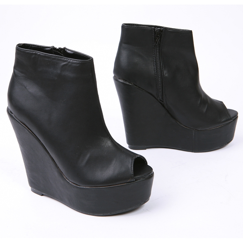 Thick Platform High Wedges Boots