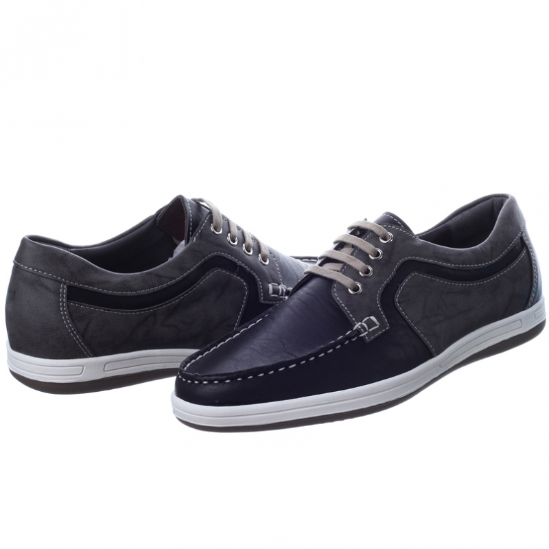 mens black synthetic leather non slip rubber sole lace up