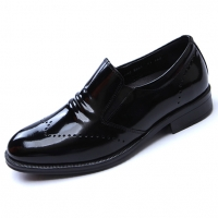 Mens real Leather comfortable cusion insole black loafers made in KOREA US6.5-US10.5