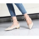 Womens beige delicate wrap feet lace up pointed toe belgravia ballet flat shoes US5.5-US8