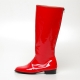 Men's Glossy Red inner leather back zip closure knee high Boots