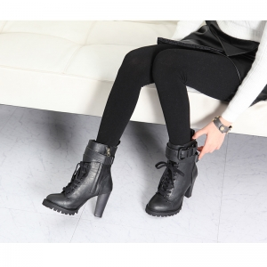 Women s combat sole high heel ankle boots b64905cfe1