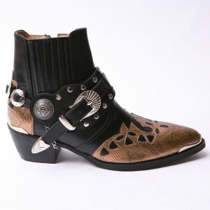 http://what-is-fashion.com/4438-34571-thickbox/-men-s-black-real-leather-contrast-patch-studded-side-zip-western-ankle-bike-rider-boots-.jpg
