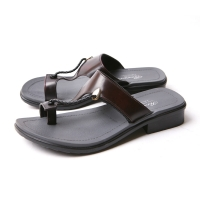 Men's real leather twist strap flip-flop fashion comfortable sandals made in korea  US7.5