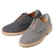 Men's synthetic check pattern fabric black gray casual lace ups sneakers