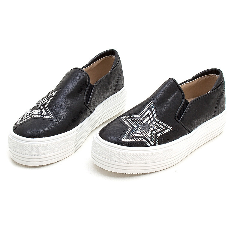 Women S Vintage Synthetic Leather Glitter Spangle Round