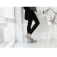 Women's oiled thick platform vintage destroyed fashion sneakers
