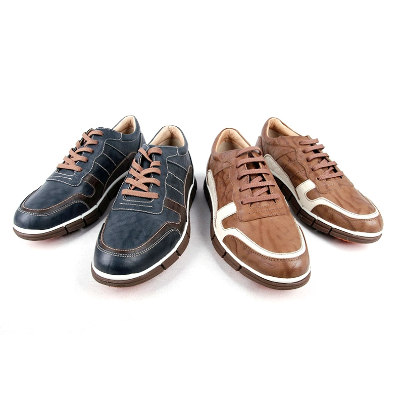 Men S Two Tone Leather Sneakers