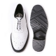 Men's wing-tips leather oxfords