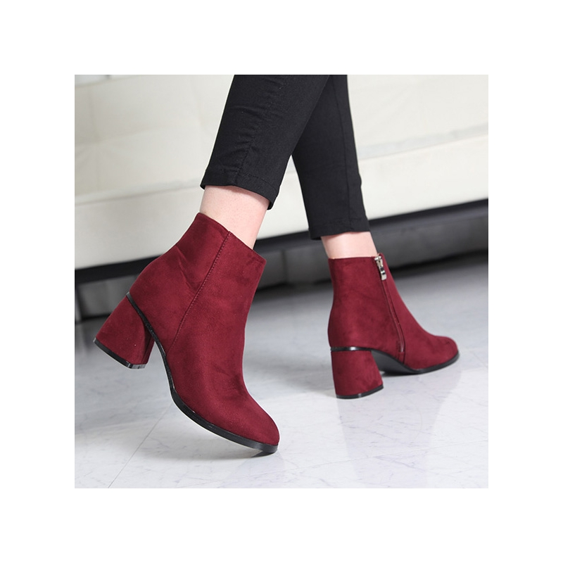 s silia chunky heels ankle boots