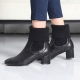 Women's elastic knit entrance med heels ankle boots US5-US10