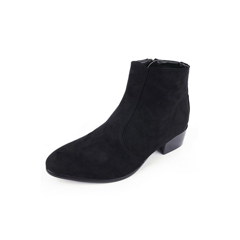 s synthetic suede high heels ankle boots