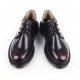 Men's brown round toe eyelet lace rubber sole oxfords