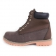 Men's brown comfy padding entrance combat sole ankle boots