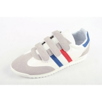 Men's multi color triple velcro strap wedge heel fashion sneakers