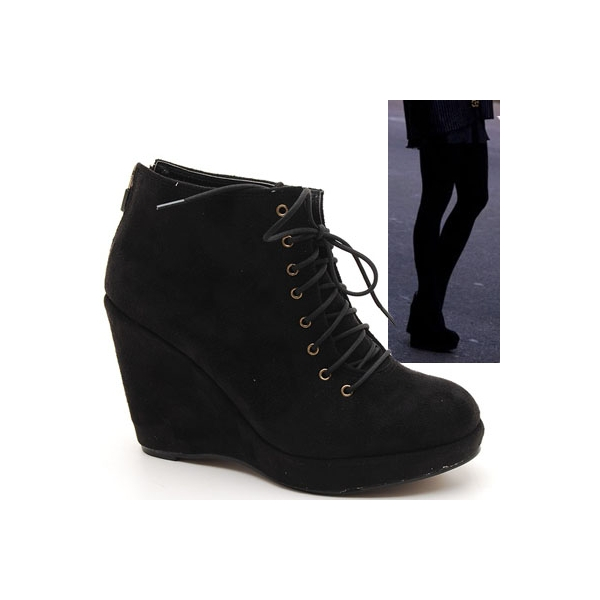high wedge ankle boots