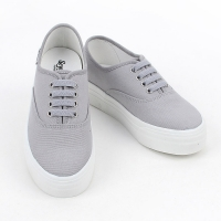 women's synthetic campus fabric comfort sneakers round toe daily shoes Gray