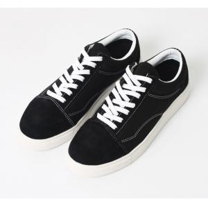 5bebe01f1d6d http   what-is-fashion.com 4854-38371-. Previous. Men s cap toe black suede  fabric contrast stitch rubber sole fashion sneakers ...
