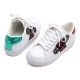 women's safety pin embellished lace up glitter green red back detailed low top white sneakers