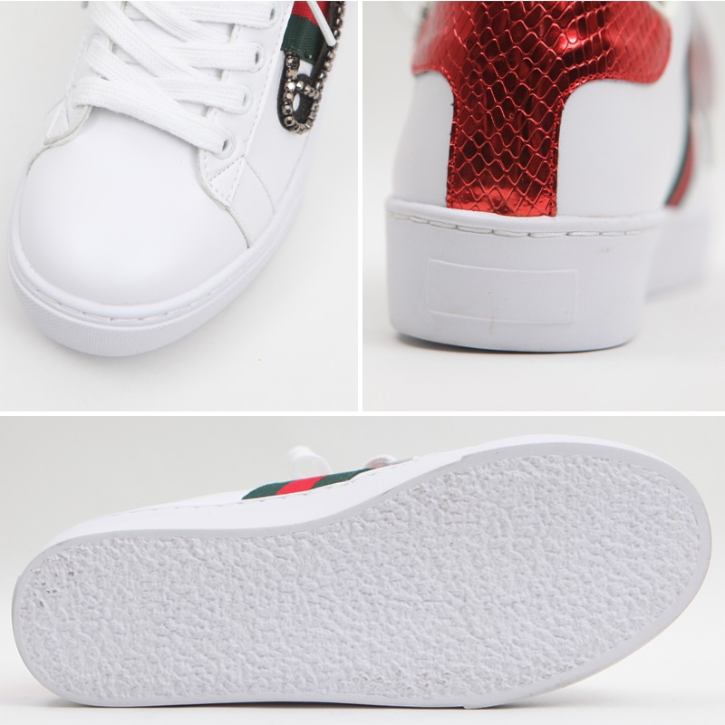 Women S Safety Pin Embellished Low Top Sneakers