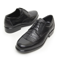 Men's Black stitched lace ups dress shoes big size US 6 ~ US 12