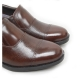 "Men's 2.6"" UP cow Leather increase height straight tip punched loafers brown made in KOREA US 6 - 10"