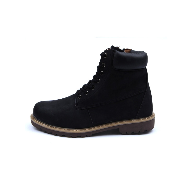 men u0026 39 s raise round toe eyelet lace up side zip padding entrance combat sole ankle boots