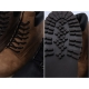 Men's raise round toe eyelet lace up side zip padding entrance combat sole ankle boots