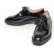 Women's square toe open lacing combat sole med heels oxfords