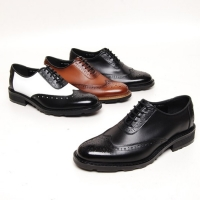 Men's close lacing wingtips full brogue oxfords shoes