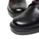 Women's plain toe eyelet lace up med heel oxford shoes