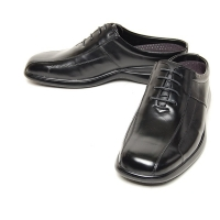 Men's square toe black leather lace up hidden insole height increasing elevator shoes oxfords mules