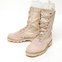 Men's suede beige eyelet lace up combat sole desert mid calf boots
