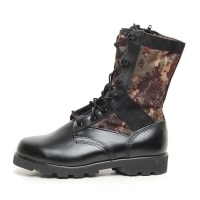 men's round toe digital military side zip middle combat sole boots
