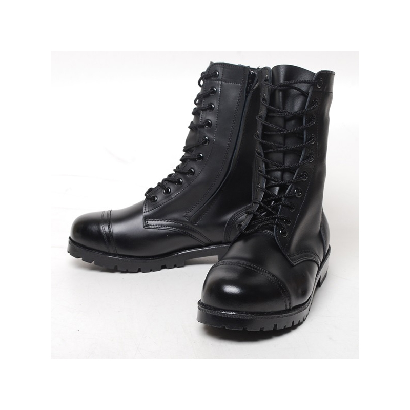 Men S Cap Toe Eyelet Lace Up Side Zip Combat Sole Military