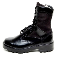 men's round toe thick platform eyelet lace up side zip button combat sole ankle boots