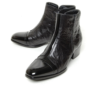 http://what-is-fashion.com/4976-39304-thickbox/men-s-cap-toe-black-leather-cut-out-wrinkle-side-zip-high-heel-ankle-boots.jpg