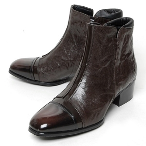 http://what-is-fashion.com/4977-39310-thickbox/men-s-cap-toe-dark-brown-leather-cut-out-wrinkle-side-zip-high-heel-ankle-boots.jpg