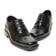 Men's square toe increase height hidden insole oxford elevator shoes