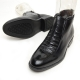 Men's round toe wrinkle elastic bane side zip back tap ankle boots
