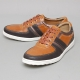 Men's muti color brogue synthetic leather fashion sneakers