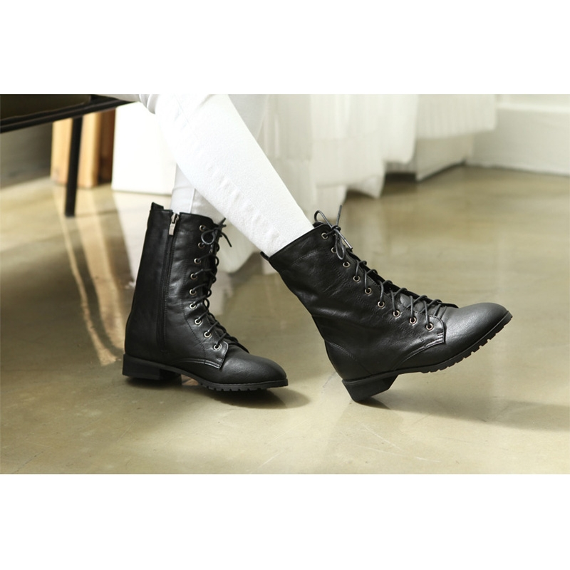 womens flat round toe black synthetic