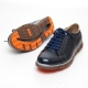 Men's navy cow leather lace up fashion sneakers